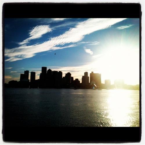 boston skyline - piers park