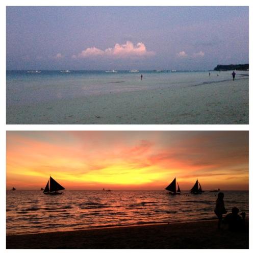 boracay sunrise sunset