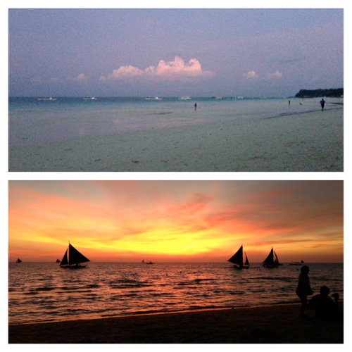 boracay sunrise sunset