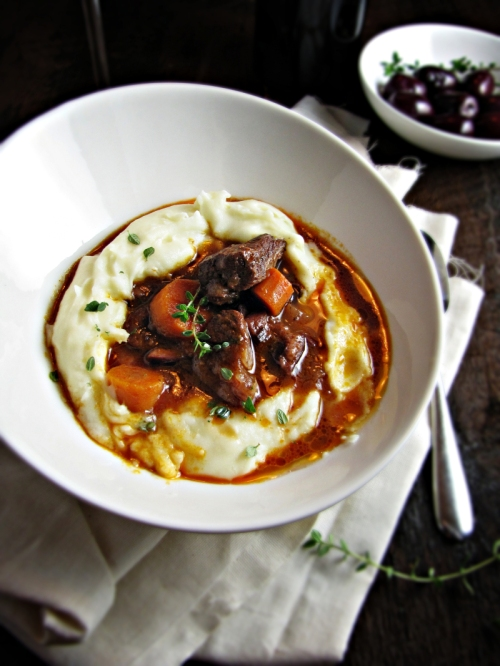 Daube Provençale (French Beef Stew with Red Wine) via katieatthekitchendoor
